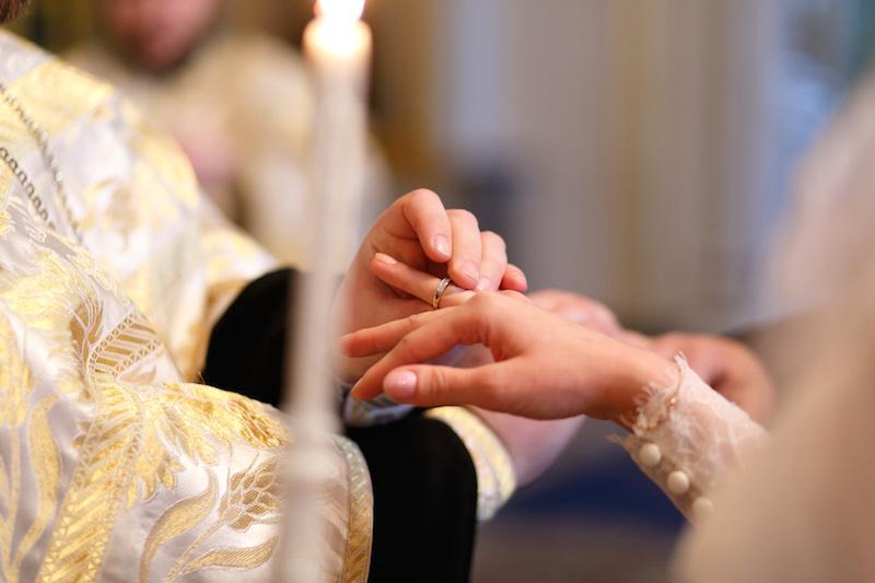 венчание, кольца