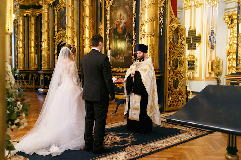 венчание, невеста, внешний вид