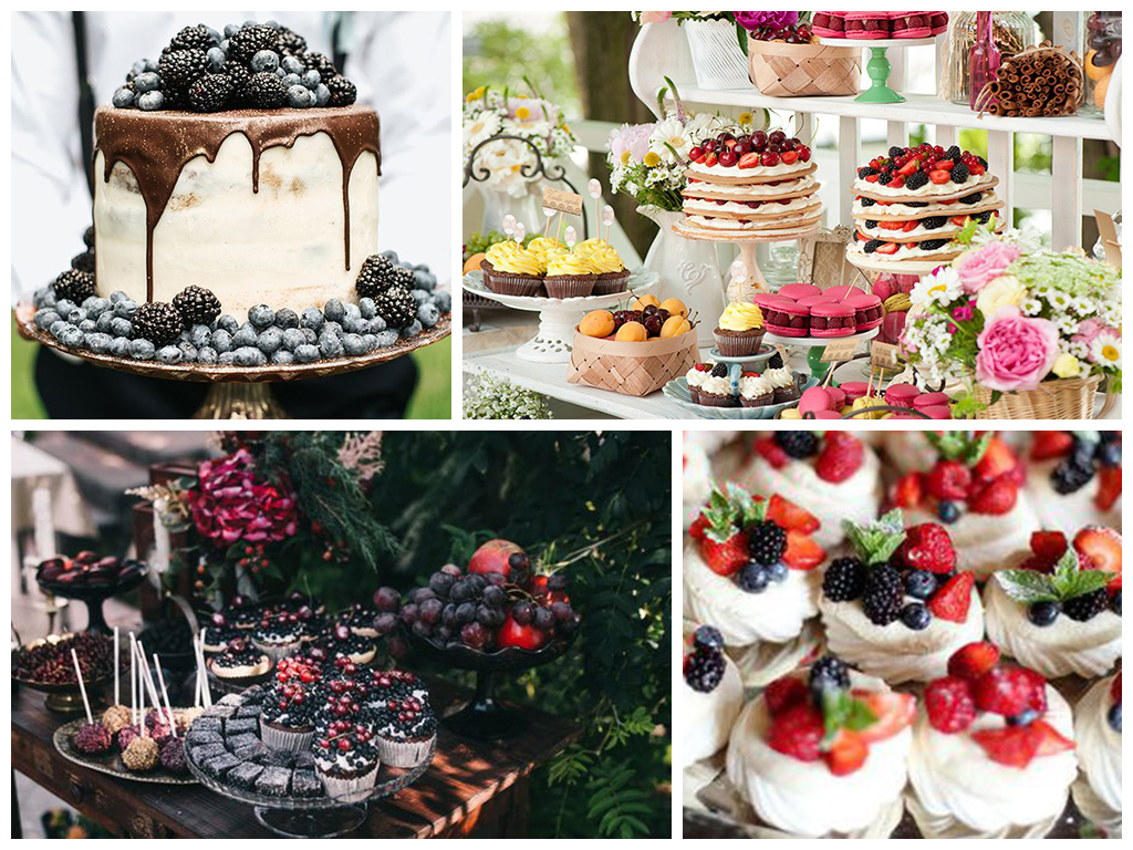 свадебный торт в ягодном стиле